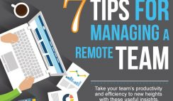 Managing a remote team infographic