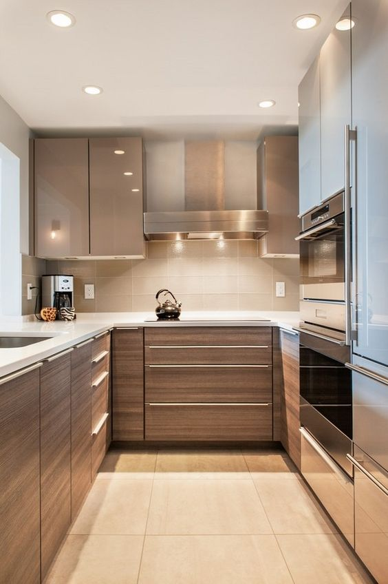small u-shaped kitchen